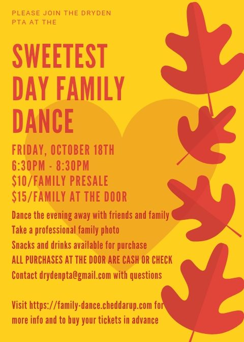 Sweetest Day Family Dance Flyer